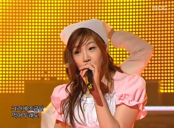 Jessi's performance on MBC's 'Music Core' in January 2006