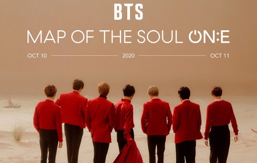 Promotional poster for Map of the Soul ON:E