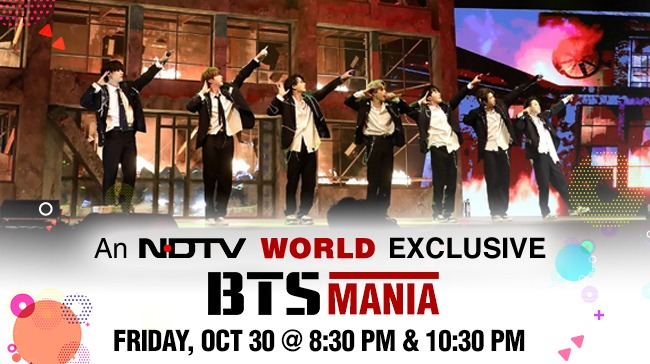 BTS promotional poster for Interview with NDTV