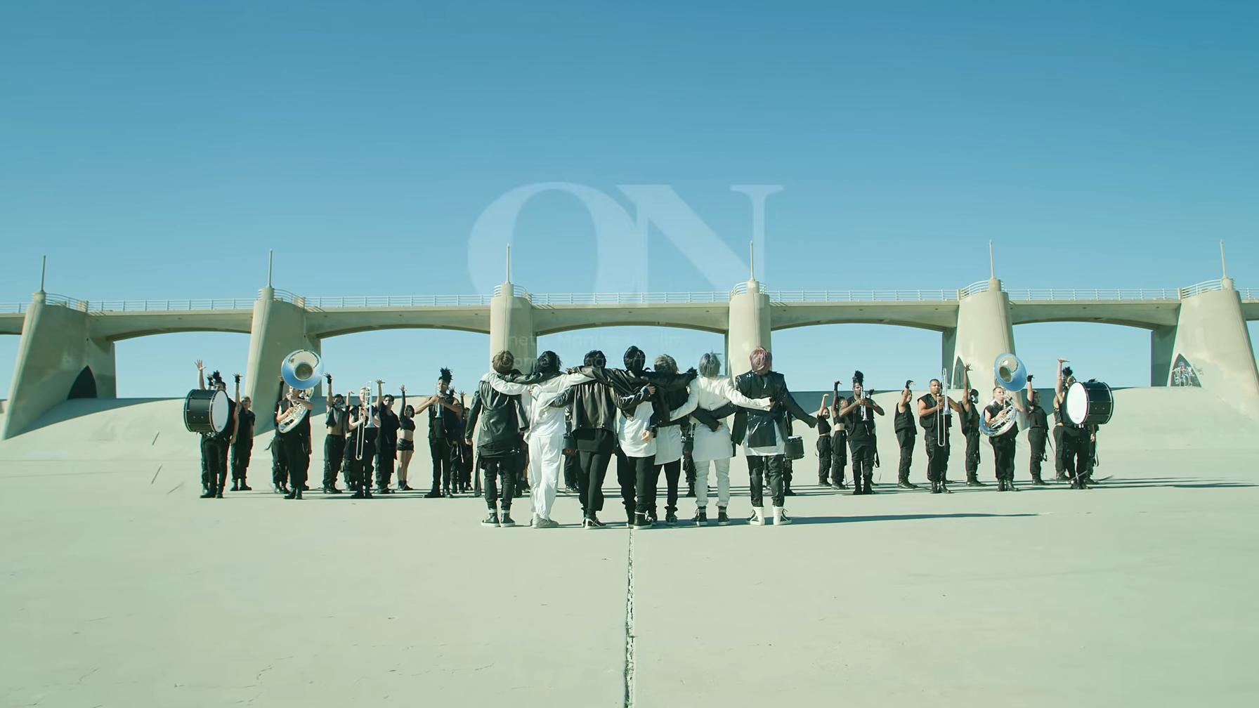 BTS members in ON Music Video